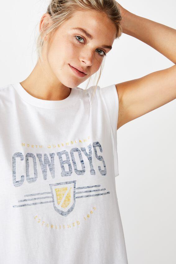 Nrl Womens Graphic Tank Top, COWBOYS