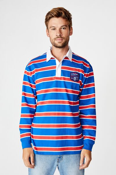 Afl Unisex Old School Rugby Polo, WESTERN BULLDOGS