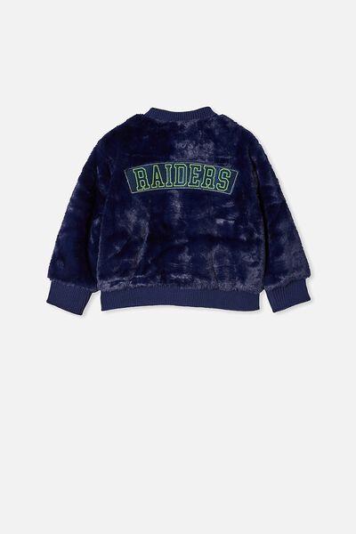 Nrl Kids Fur Bomber Jacket, RAIDERS