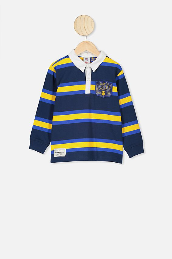 Afl Kids Old School Rugby Polo, WEST COAST