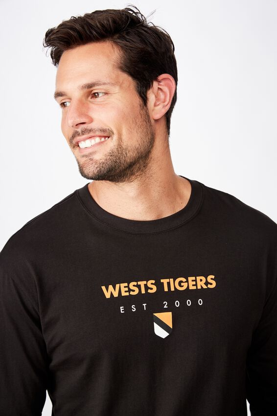 Nrl Mens Graphic Long Sleeve, WESTS TIGERS