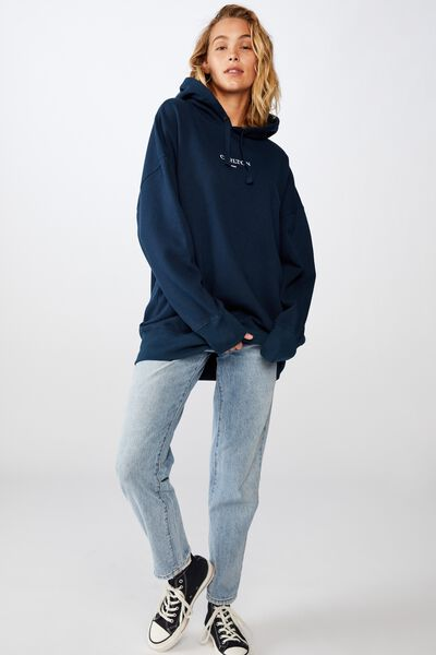 Afl Womens  Embroidered Hoodie, CARLTON