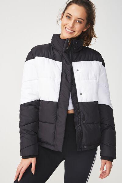 Afl Puffer Jacket, COLLINGWOOD