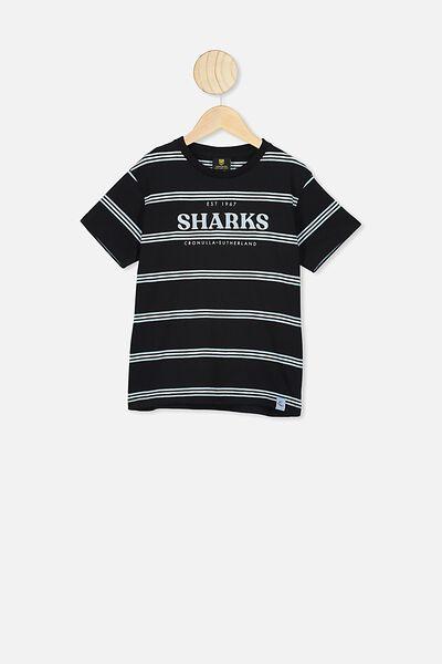 Nrl Kids Stripe Logo T-Shirt, SHARKS