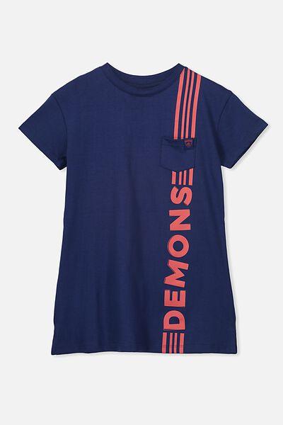 Afl Girls T-Shirt Dress, MELBOURNE