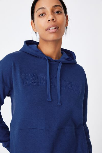 Nrl Womens Embroidered Pocket Hoodie, WARRIORS