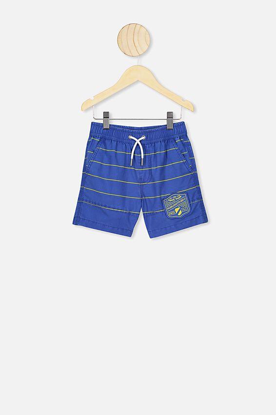 Nrl Boys Stripe Board Short, EELS