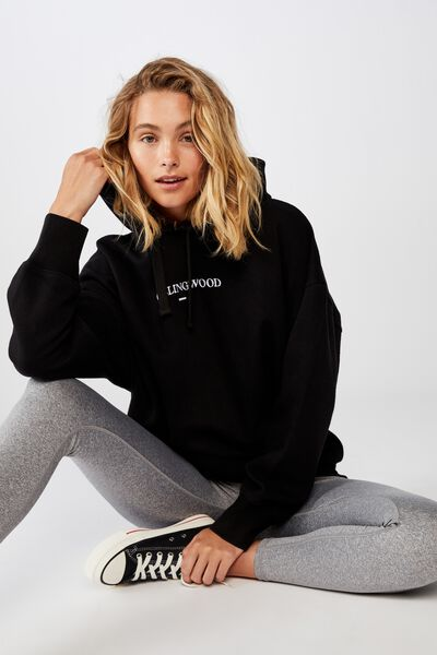 Afl Womens  Embroidered Hoodie, COLLINGWOOD