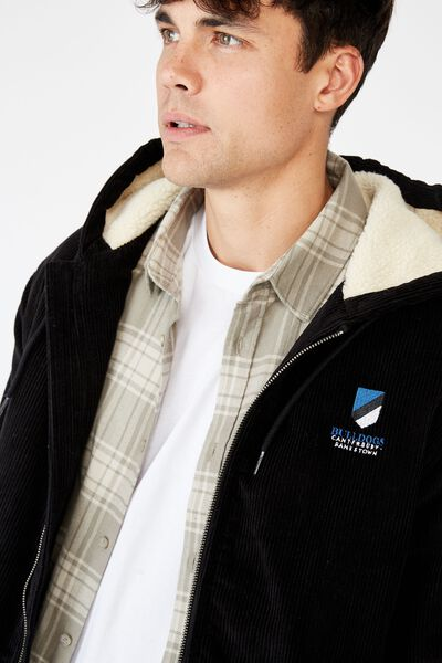 Nrl Mens Corduroy Jacket, BULLDOGS
