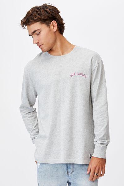 Nrl Mens Number Long Sleeve Top, SEA EAGLES