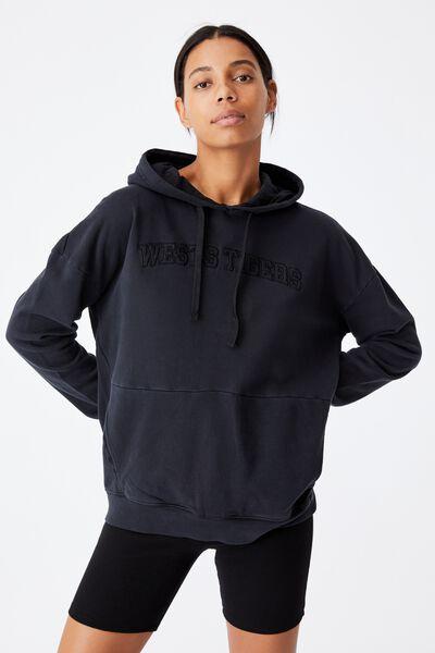 Nrl Womens Embroidered Pocket Hoodie, WESTS TIGERS