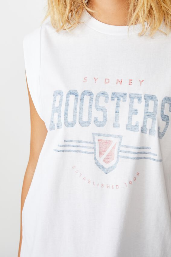 Nrl Womens Graphic Tank Top, ROOSTERS