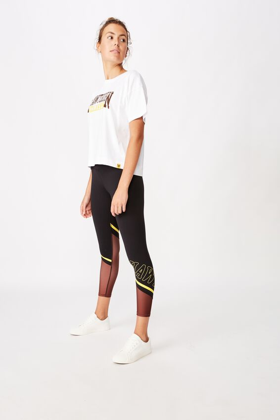 Afl Womens Cropped T-Shirt, HAWTHORN