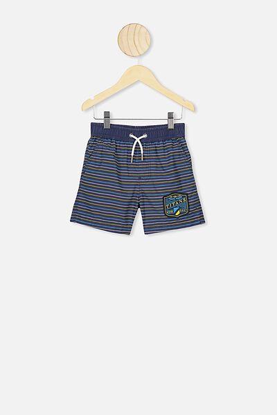 Nrl Boys Stripe Board Short, TITANS