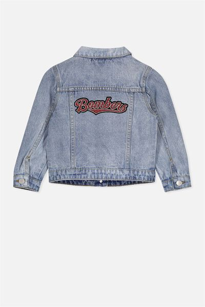 Afl Kids Denim Jacket, ESSENDON
