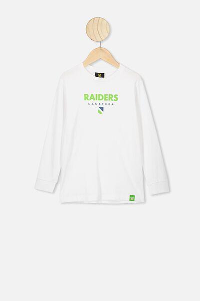 Nrl Kids Graphic Long Sleeve, RAIDERS