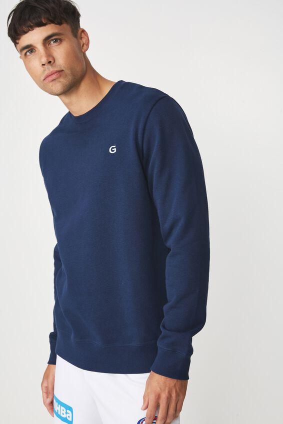 Gfc Cats Fleece Crew - Unisex, NAVY