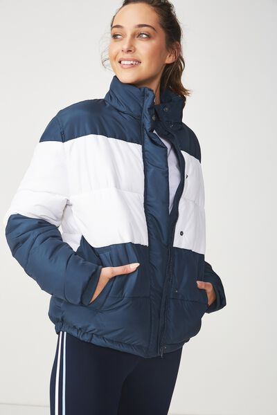 Afl Puffer Jacket, CARLTON