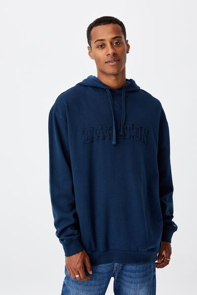 Afl Mens Embroidered Hoodie, CARLTON