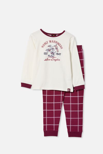 Nrl Kids Mascot Ls Pyjama Set, SEA EAGLES