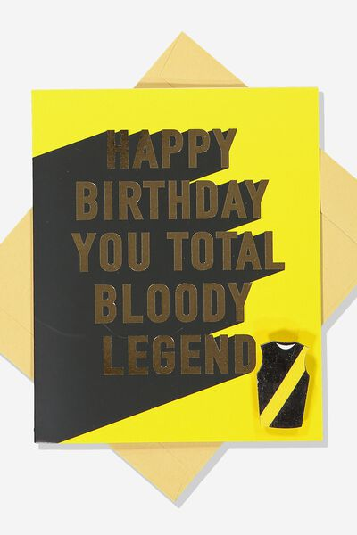 Afl Birthday Card - Legend (Pin), RICHMOND