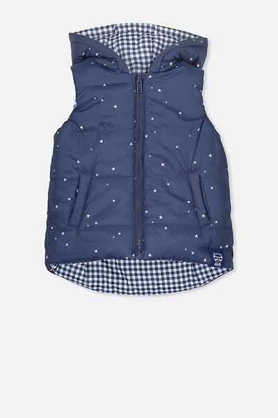 Afl Kids Reversible Puffer Vest, GEELONG