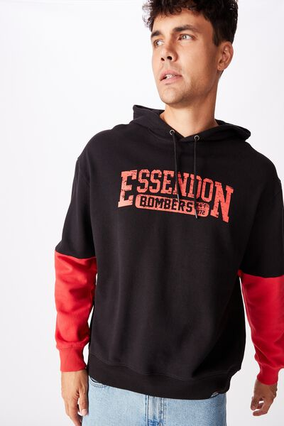 Afl Mens Panel Hoodie, ESSENDON