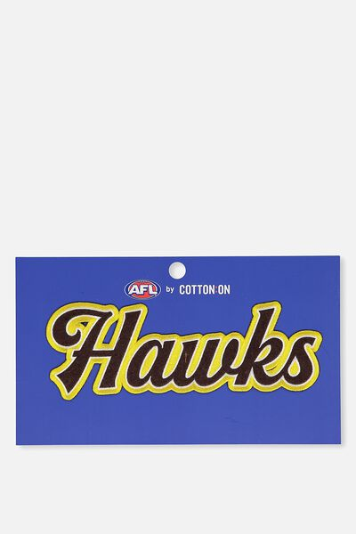 Iron On Afl Badge 3 - Club, HAWTHORN