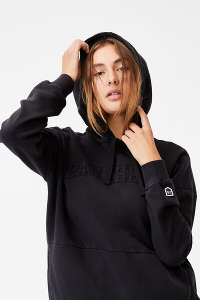 Nrl Womens Embroidered Pocket Hoodie, PANTHERS