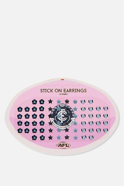 Afl Stick On Earrings, CARLTON