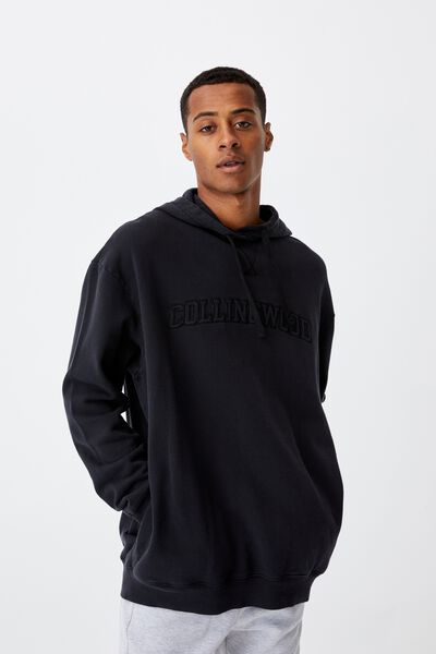 Afl Mens Embroidered Hoodie, COLLINGWOOD