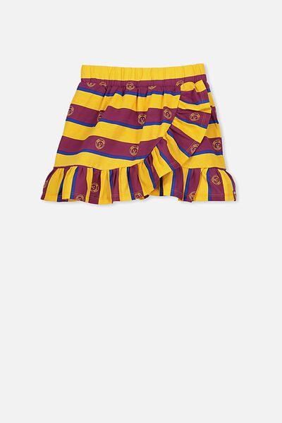 Afl Girls Ruffle Skirt, BRISBANE