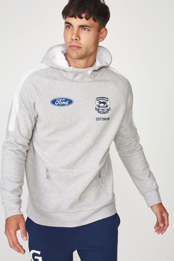 Gfc Tech Fleece Pullover, LT GREY MARLE TEXTURE