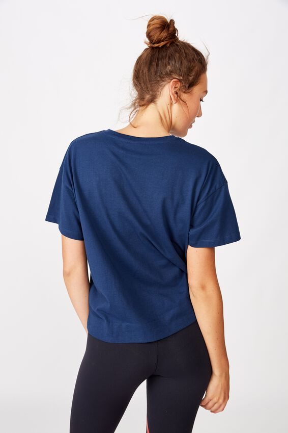 Afl Womens Cropped T-Shirt, MELBOURNE