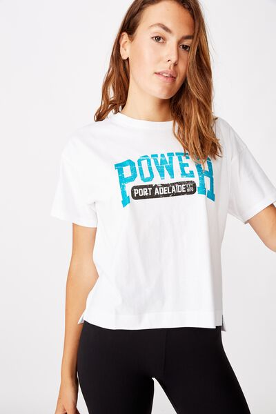 Afl Womens Cropped T-Shirt, PORT ADELAIDE