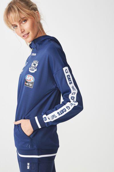 Aflw 2019 Ladies Long Sleeve Performance Hoody, GEELONG