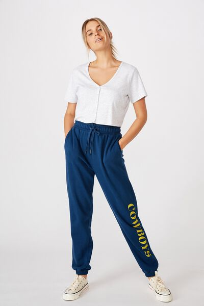 Nrl Womens Old School Track Pant, COWBOYS