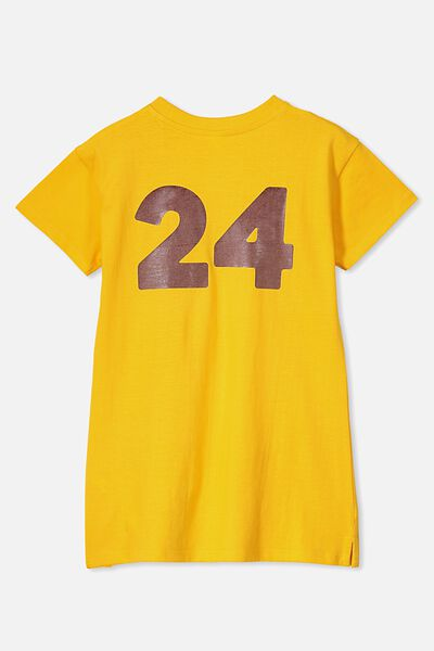 Personalised AFL Girls T-Shirt Dress, HAWTHORN