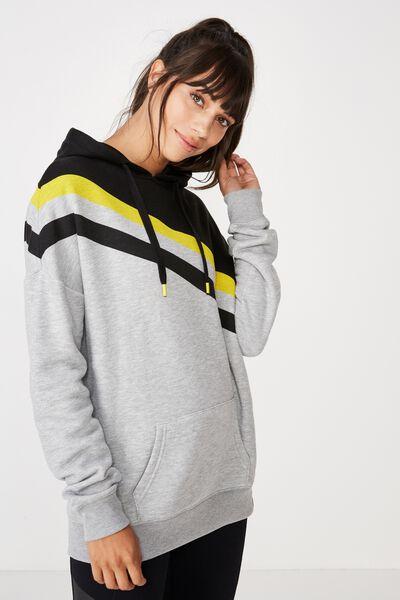Afl Ladies Stripe Fleece Hoody, RICHMOND