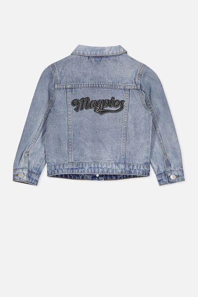 Afl Kids Denim Jacket, COLLINGWOOD
