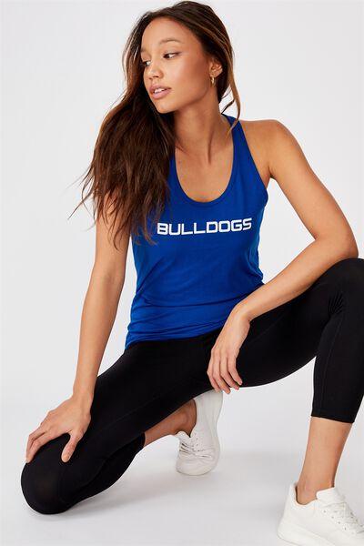 Nrl Ladies Gym Muscle Tank, BULLDOGS