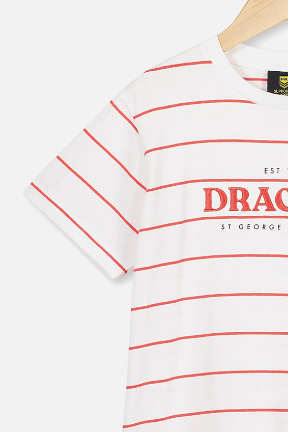 Nrl Kids Stripe Logo T-Shirt, DRAGONS