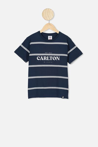 Afl Kids  Stripe Logo T-Shirt, CARLTON