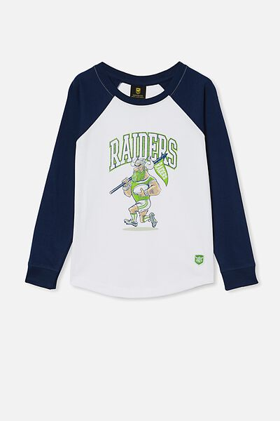 Nrl Kids Raglan Ls Top, RAIDERS