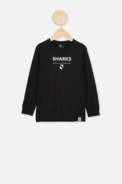 Nrl Kids Graphic Long Sleeve, SHARKS