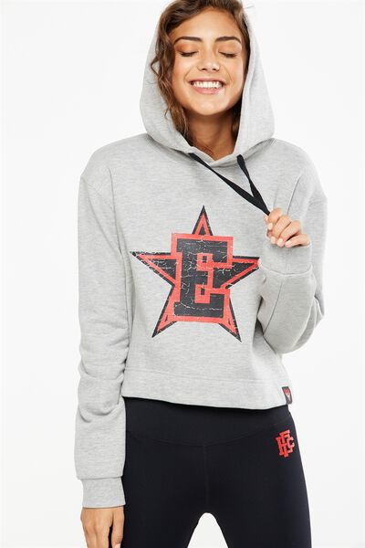 Afl Ladies Chopped Hoody, ESSENDON