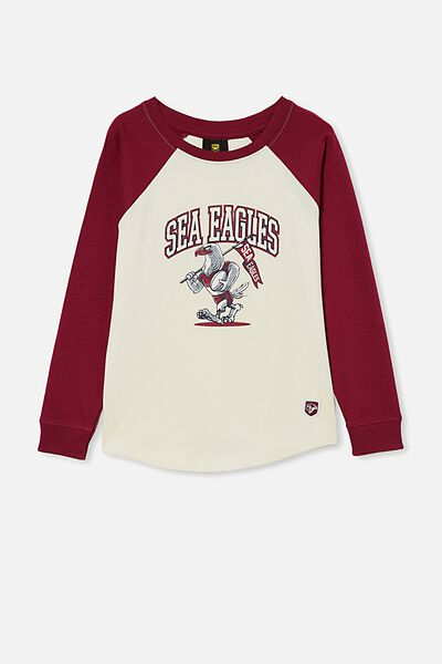 Nrl Kids Raglan Ls Top, SEA EAGLES