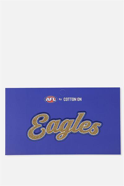 Afl Kids Badge 2 Script, WEST COAST EAGLES