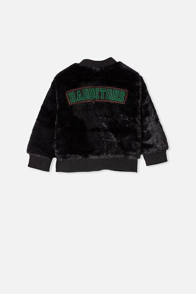 Nrl Kids Fur Bomber Jacket, RABBITOHS