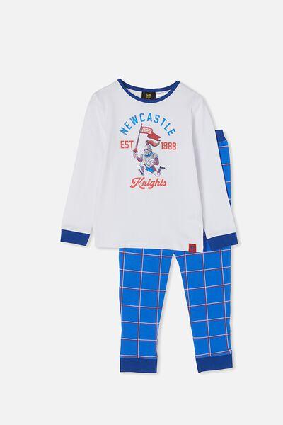 Nrl Kids Mascot Ls Pyjama Set, KNIGHTS